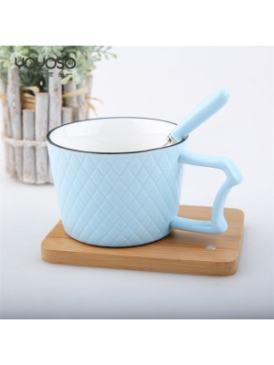 Ceramic Mug with detail Blue
