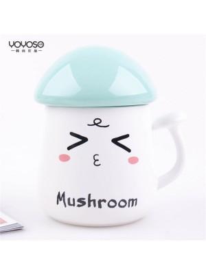 Mushroom Ceramic Mug Blue