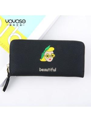 Cartoon Character portrait Ms. Long wallet