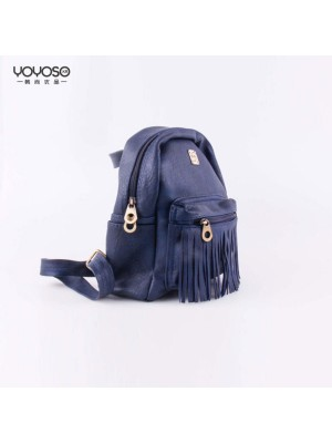 Blue Fringed Shoulder Bag